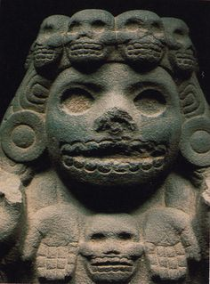 Aztec mythology- Goddess known as Mictecacihuatl (pronounced 'Meek-teka-see-wahdl' or 'Meek-teka-kee-wadl'). She presided over the ancient festivals of the dead, which evolved from Aztec traditions into the modern Day of the Dead Aztec Culture, Art Premier, Aztec Art, Mesoamerican, Arte Popular, Mexican Art, Ancient Artifacts, Ancient Aliens, Gods And Goddesses