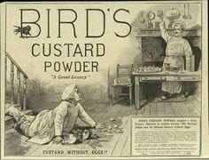 Advert for Bird's Custard Powder. Alfred Bird is buried at Key Hill.
