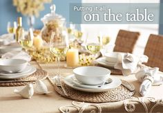 Guide on setting a table from Pier 1. Shop at Pier1.com for your table setting needs.