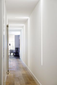 33 Chic Hallway Lighting Design Ideas That Will Keep Your Mood - Lighting plays an important role in both the look and the function of your home. From simple table lamps to specialized fixtures and switches, there a. Corridor Lighting, Hall Lighting, Strip Lighting, Interior Lighting, Club Lighting, Lighting Concepts, Lighting Design, Lighting Ideas, Led Light Installation