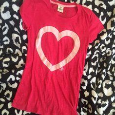 Victoria's Secret pink shirt small heart ⭐️ Very good condition PINK Victoria's Secret Tops Tees - Short Sleeve
