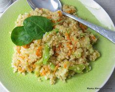 Komosa ryżowa z cukinią i batatem
