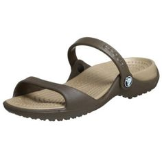 Crocs Women's Cleo Slide,Chocolate/Khaki,8 M crocs. $21.90