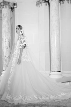 The new Elie Saab wedding dresses have arrived! Take a look at what the latest Elie Saab bridal collection has in store for newly engaged brides. Fantasy Wedding Dresses, Fall Wedding Dresses, Wedding Dress Styles, Bridal Dresses, Wedding Gowns, Tulle Wedding, Elie Saab Bridal, Tulle Ball Gown, Ball Gowns