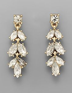 Crystal Leaf Earrings I found this on www.rmcjewelry.com