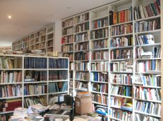 Umberto Eco reportedly owns 50,000 books. 30,000 are stored in his Milan house, pictured here