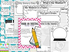 Download Center Freebie! Here are some of the writing center ideas I've been working on these past couple...