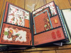 good page view of a mini-album with pockets for tags or photo mats.