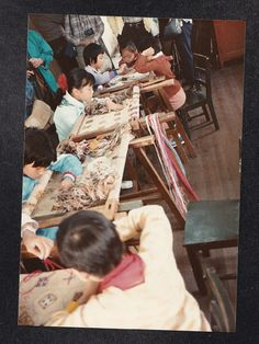 Vintage Photograph Little Children Sewing at Children's Palace Shanghai China | eBay