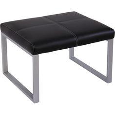 Alera Reception Lounge Leather Cube Ottoman, Black (ALERL8319CSM)