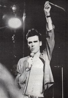 Morrissey performing with The Smiths