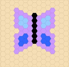 BUTTERFLY---use any size hexagon