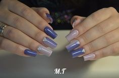 Beautiful nails 2016, Blue and gray nails, Cool nails, Dating nails, Evening nails, Exquisite nails, Fall nails 2016, Fine nails