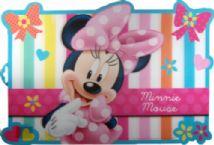 Disney Minnie Mouse 3D Dinner Place Mat - New Pin Stripe Design