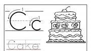 Printable letter C tracin…