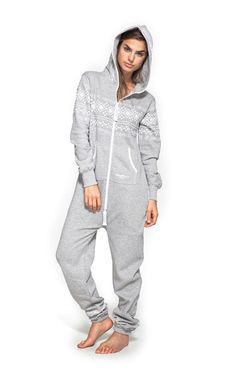 Onepiece Lusekofte Adult Onesie in Grey Melange & Navy with the traditional Norwegian knit print gone urban.Luxury onesie for men and women with stylish design. Adult Onesie Pajamas, Pyjamas, Pjs, Comfy Pajamas, Mens Onesie, Navy Jumpsuit, Lazy Day Outfits, Nice Outfits, Jumpsuits For Women