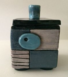 ceramic box #5-square by whimsicallinendesign on Etsy https://www.etsy.com/listing/231853151/ceramic-box-5-square