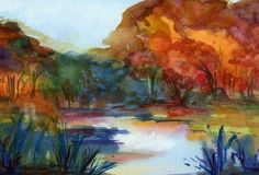 Mystic River, Watercolor Print, Beautiful Home Decor