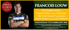 One of our best sporting competitions to date, we're giving away a table for TEN people for an evening with Bath Rugby's South African superstar Francois Louw! Source: WIN a table for TEN at an eve...