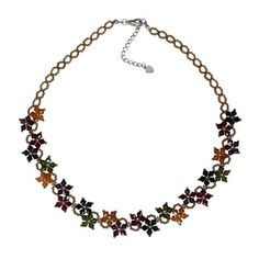 Sterling Silver Multi-colored Crystal Flower Earrings (USA) | Overstock.com Shopping - The Best Deals on Earrings