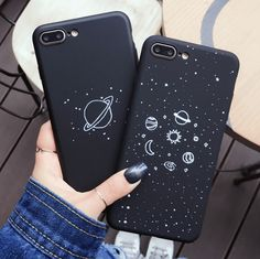 BLACK PLANETS GALAXY IPHONE COVER – itGirl Shop
