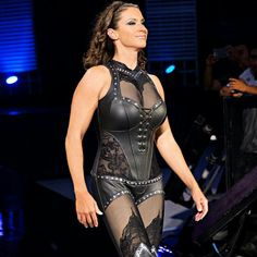 Stephanie Mcmahon, Leather Lingerie, Beachwear, Swimwear, Wwe Superstars, Outfit Of The Day, Bodycon Dress, Street Style, Model