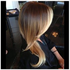 Gorgeous ombre. I might actually be down to do this, even though it is more brown than I am used to!