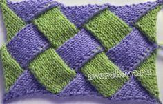 МК техника вязания ЭНТРЕЛАК. Начнем с вязания самого простого узора , на основании этого узора изучим основные элементы этой техники.