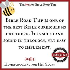 """BRT is one of the best Bible curriculums out there. It is solid and sound in theology, yet easy to implement. You study the Bible from cover to cover and get a real sense of what the Bible is all about with age appropriate readings and discussion questions as well as notebooking activities, perfect to engage the whole family."" ~ Joelle at Homeschooling for His Glory"