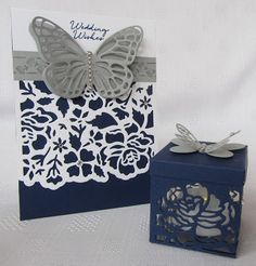Hello everyone, We had fun this week with the Floral Phrases and matching Detailed Floral Thinlits dies. I really love Night of Navy, its one of my staple wardrobe colours! I& always in navy trouser Butterfly Cards, Flower Cards, Wedding Anniversary Cards, Wedding Cards, Stampin Up Anleitung, Deco Table Noel, Bee Cards, Christmas Cards To Make, Stamping Up Cards