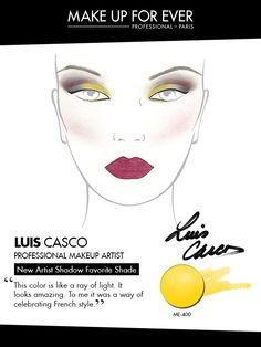 MAKE UP FOR EVER 30 Years. 30 Colors. 30 Artists. Luis Casco's favorite shade ME-400.
