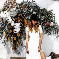 Floral installation for the @grace_loves_lace event in Sydney. Photo by @atdusk