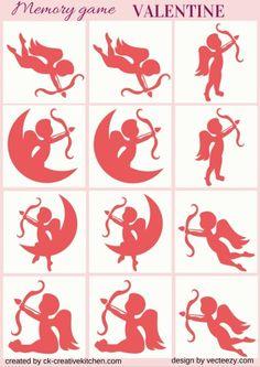 #VALENTINE DAY- #MEMORY #GAME FREE PRINTABLES