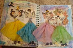 ALTERED EXPRESSIONS: paper doll and dotee doll!! Doll Art Journal pages!!