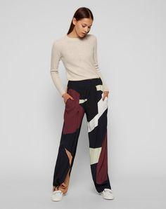 Rundhalspullover 'Ribbed Sweater' // Stefanel