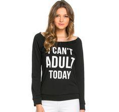I Can't Adult Today Raglan (Ladies) – Rose Gold Vintage