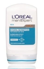 L`Oréal Paris Men Expert Hydra Sensitive Shaving is an ordeal for your skin: dryness redness irritations... LOréal Paris has designed a quenching effect balm that hydrates the skin to help soothe razor burn reduces the feeling of dryness http://www.comparestoreprices.co.uk/mens-health-and-beauty/lorã©al-paris-men-expert-hydra-sensitive.asp