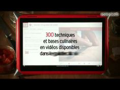 French Qooq tablet for kitchen comes with recipe videos.  Qooq tablet on ladattu ruokaohjevideoilla.
