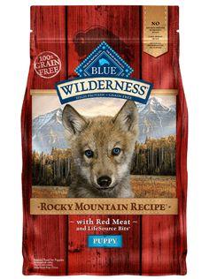 Blue Buffalo Wilderness Rocky Mountain Recipe Grain Free Puppy Food at PetSmart. Shop all dog dry food online Free Puppies, Dogs And Puppies, Grain Free Puppy Food, Wolf Life, Dog Food Brands, Wild Bird Food, Dry Dog Food, Rocky Mountains, Dog Love