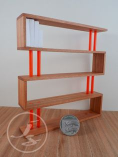 Modern ZigZag Bookcase Dollhouse Miniature Limited Edition 12th Scale. £40.00, via Etsy.