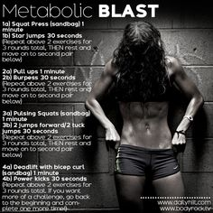 Bikini Ready http://www.dailyhiit.com/hiit-blog/hiit-workout/bikini-ready-3-metabolic-blast/