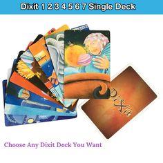 Alta Calidad Dixit 1 2 3 4 5 6 7 solo juego de tarjetas de la cubierta original de nuevo para la fiesta de mesa juego de naipes