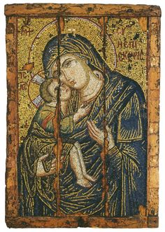 Late 13th c. Mosaic Icon.  @Matty Chuah Byzantine Museum of Athens