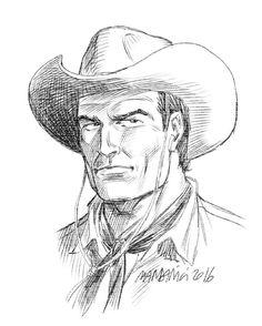 O belo rosto de Tex na arte de Patrizia Mandanici