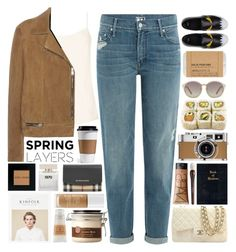 Spring Jacket / 74 by dddawn on Polyvore featuring The Row, Yves Saint Laurent, Mother, Fendi, Chanel, Burberry, Linda Farrow, Trish McEvoy, Bobbi Brown Cosmetics and Le Labo