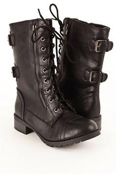 Black Dome Combat Boot