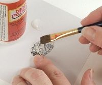 seal paper well before resin