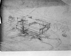 sketch by mies van der rohe - legendary villa tugendhat