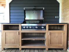 Super mooie combinatie met de Grandhall Maxim built in gasbarbecue! Build Outdoor Kitchen, Bbq, Kitchen Appliances, Lounge, Building, Furniture, Home Decor, Barbecue, Diy Kitchen Appliances