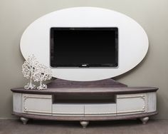 oval tv ünitesi